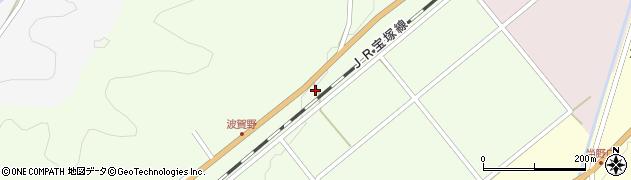 兵庫県丹波篠山市波賀野周辺の地図