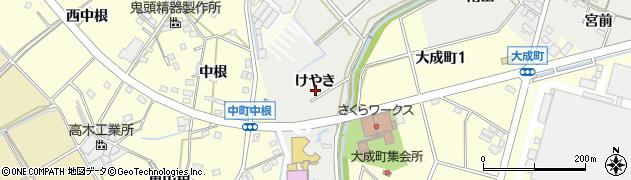 愛知県豊田市西田町(けやき)周辺の地図