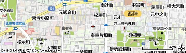 京都府京都市上京区笹屋町四丁目周辺の地図