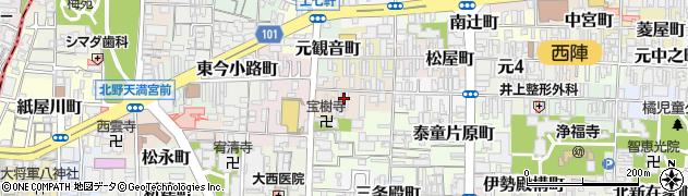 京都府京都市上京区笹屋町五丁目周辺の地図