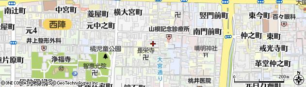 京都府京都市上京区北之御門町周辺の地図