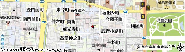 京都府京都市上京区常盤井図子町周辺の地図