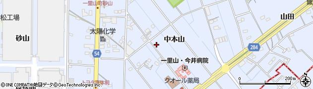 愛知県刈谷市一里山町(中本山)周辺の地図