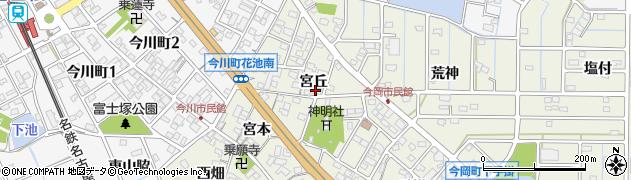 愛知県刈谷市今岡町(宮丘)周辺の地図
