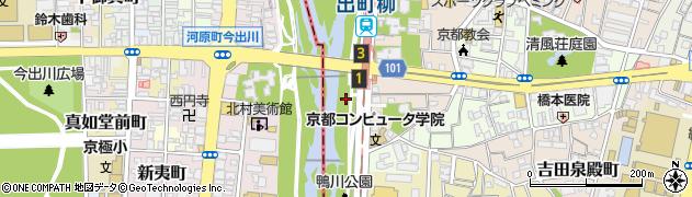 京都府京都市左京区田中下柳町周辺の地図