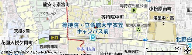 念仏寺周辺の地図