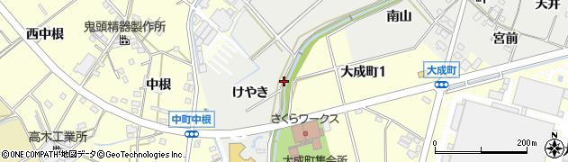 愛知県豊田市西田町(下畔)周辺の地図