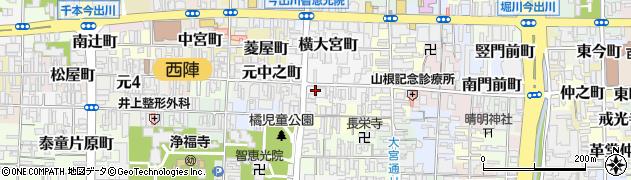 京都府京都市上京区元妙蓮寺町周辺の地図
