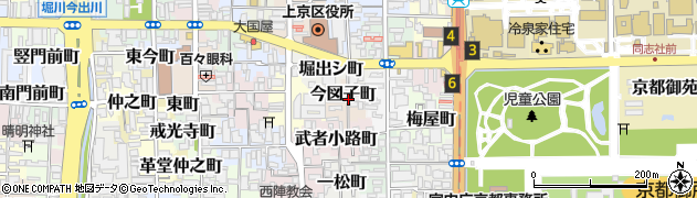 京都府京都市上京区今図子町周辺の地図