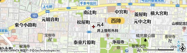 京都府京都市上京区元四丁目周辺の地図