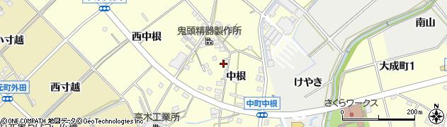 愛知県豊田市中町(中根)周辺の地図