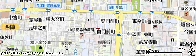 京都府京都市上京区竪門前町周辺の地図