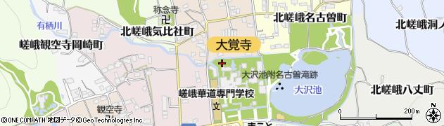 京都府京都市右京区嵯峨大沢町周辺の地図