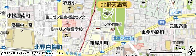 京都府京都市上京区観音寺門前町周辺の地図