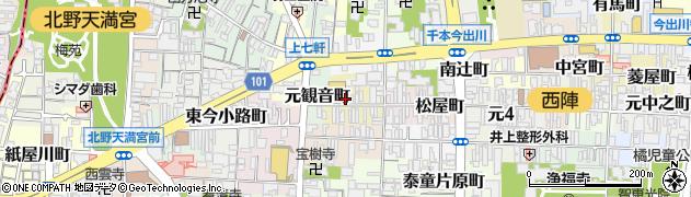 京都府京都市上京区大文字町周辺の地図