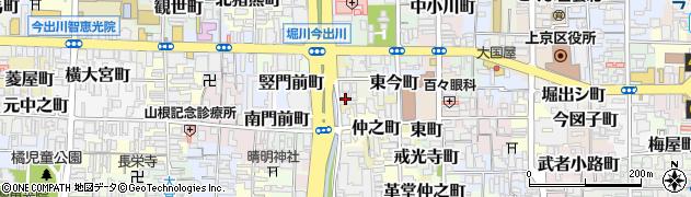 京都府京都市上京区村雲町周辺の地図