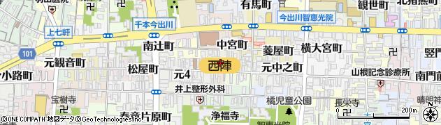 京都府京都市上京区革堂町周辺の地図