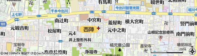 京都府京都市上京区今出川町周辺の地図