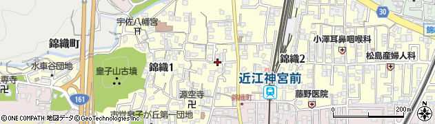 滋賀県大津市錦織周辺の地図