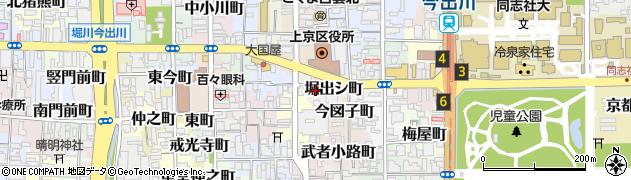 京都府京都市上京区堀出シ町周辺の地図