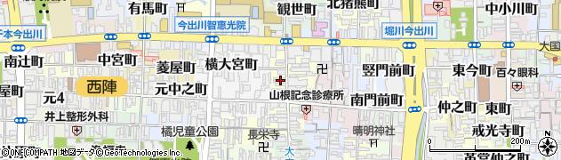 京都府京都市上京区薬師町周辺の地図