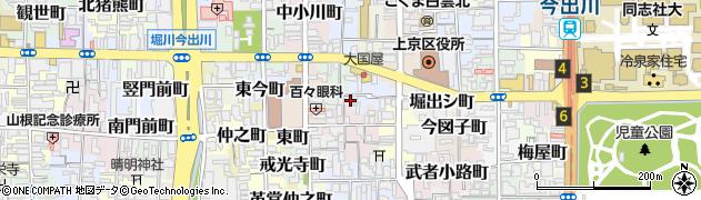 京都府京都市上京区弁財天町周辺の地図