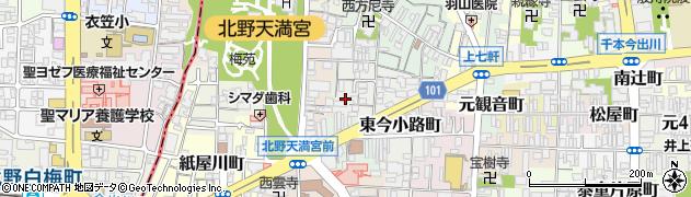 京都府京都市上京区東今小路町周辺の地図