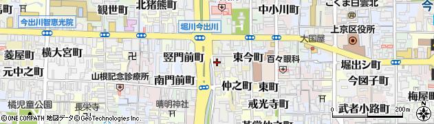 京都府京都市上京区西今町周辺の地図