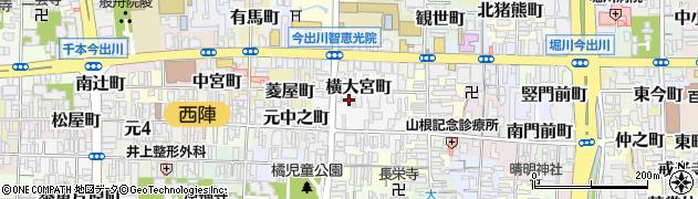京都府京都市上京区横大宮町周辺の地図
