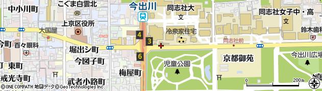京都府京都市上京区玄武町周辺の地図