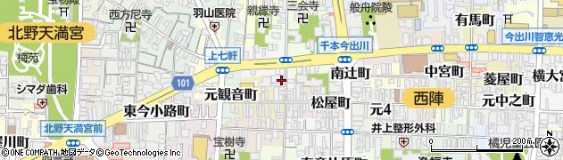 京都府京都市上京区南佐竹町周辺の地図