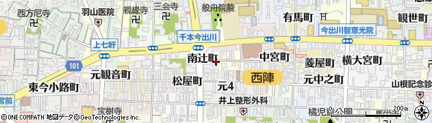 京都府京都市上京区西亀屋町周辺の地図