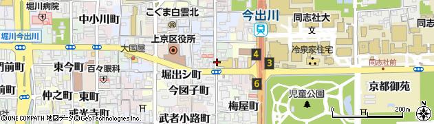 京都府京都市上京区築山南半町周辺の地図