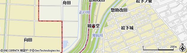 愛知県刈谷市泉田町(観音堂)周辺の地図