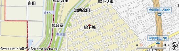 愛知県刈谷市泉田町(絵下城)周辺の地図