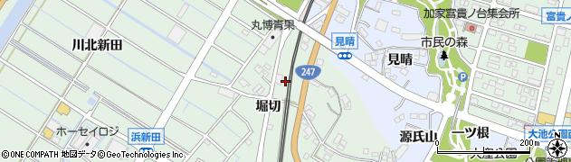 愛知県東海市大田町(堀切)周辺の地図