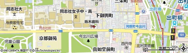 京都府京都市上京区革堂内町周辺の地図