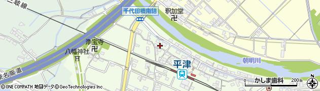 三重県四日市市平津町周辺の地図