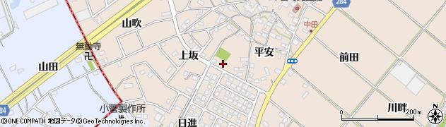 愛知県豊田市中田町(上坂)周辺の地図