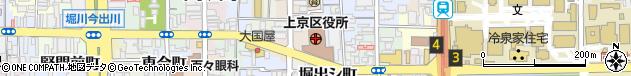 京都府京都市上京区周辺の地図