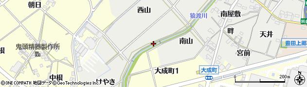 愛知県豊田市西田町(東山)周辺の地図