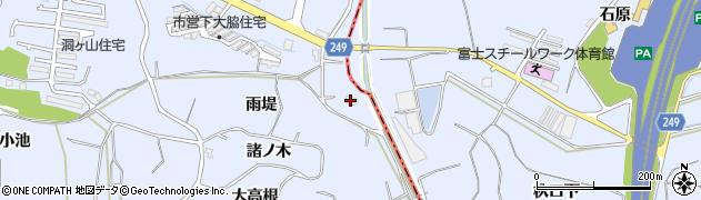 愛知県東海市荒尾町(雨堤)周辺の地図