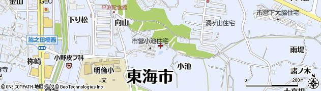 愛知県東海市荒尾町(小池)周辺の地図