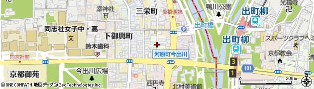 京都府京都市上京区三芳町周辺の地図
