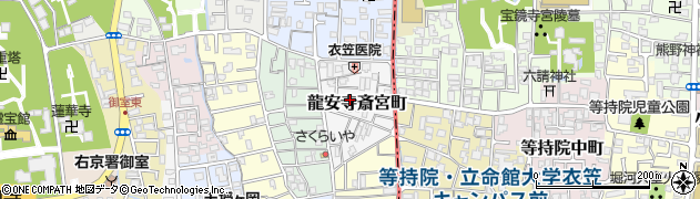 京都府京都市右京区龍安寺斎宮町周辺の地図
