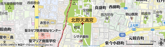 京都府京都市上京区馬喰町周辺の地図
