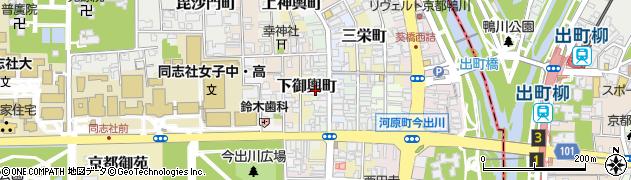 京都府京都市上京区立本寺前町周辺の地図