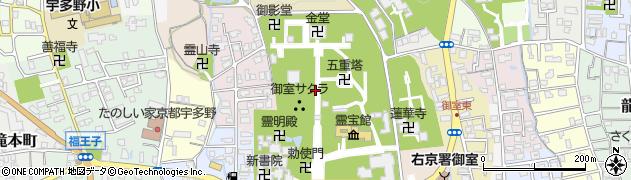 仁和寺周辺の地図