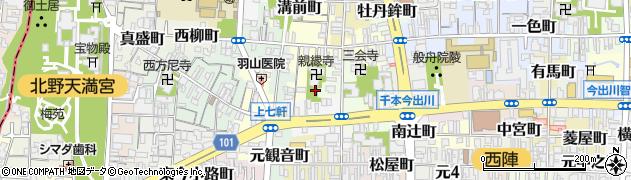 京都府京都市上京区佐竹町周辺の地図
