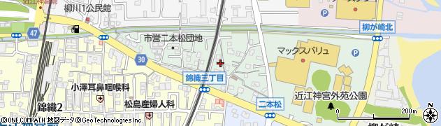 滋賀県大津市二本松周辺の地図